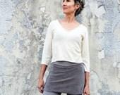 ORGANIC Ritual Simplicity Cropped Shirt (light hemp/organic cotton knit) - organic tunic