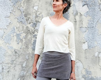 ORGANIC Ritual Simplicity Cropped Shirt (light hemp/organic cotton knit) - organic tunic