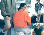 Mens Womens Jacket Athletic Baseball style coat 90s vintage sewing pattern Vogue 8333 UNCUT Size XS to Medium