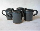 Pottery Espresso Cups Set of 4