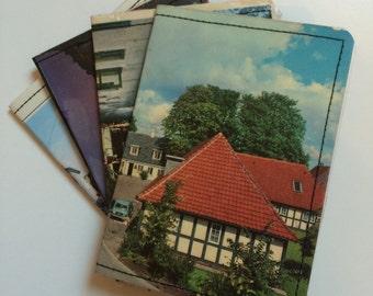 Slim Wallet- Vintage Postcard of Denmark- choose 1