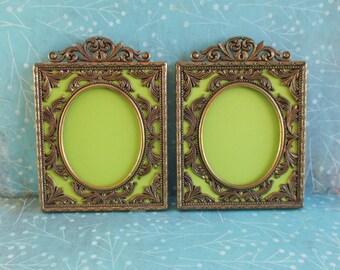 Pair of Vintage Victorian Style Ornate Italian Frames