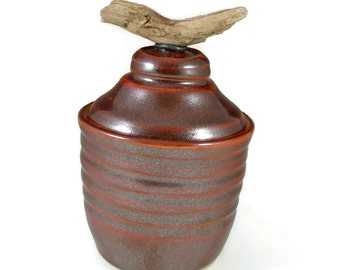 Ceramic Jewelry Box - Pottery Sugar Bowl - Handmade Trinket Box - Hand Made Lidded Jar - Wheel Thrown Stoneware Pottery Art - Ready to Ship