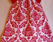 SAMPLE SALE Girls Peasant Valentine's Day Dress Ready to Ship in Size 1T