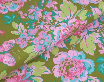Color Brigade Gretchen in Cypress - by Jennifer Paganelli for Free Spirit Fabrics - fabric by the yard starting at a quarter yard