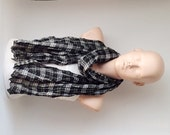 Men Scarf from %100 Cotton mix with plaid desing