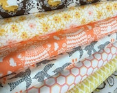 Sweet As Honey fabric bundle of 7 by Bonnie Christine for AGF, Deer fabric, Bee Hive, Nature fabric, Woodgrain fabric, Choose the Cuts