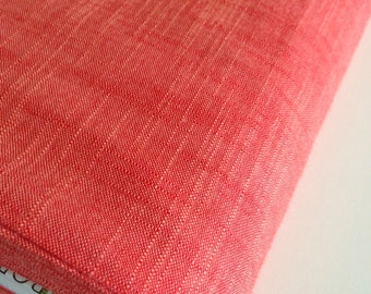 SALE Fabric, Manchester in Poppy, Red fabric, Yarn Dyed fabric, Woven fabric,  Apparel fabric, Shirt fabric, Dress fabric, Scarf fabric