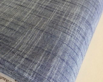 SALE Fabric, Manchester in Denim, Yarn Dyed, Woven fabric, Blue fabric, Apparel fabric, Scarf fabric, Quilt fabric, Choose your cut
