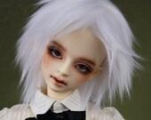 Pure White doll wig SIZE CHOICE faux fur wig BJD