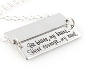 Custom Secret Message Necklace - Hidden Message Necklace