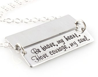 Personalized Secret Message Necklace - Custom Hidden Message Necklace