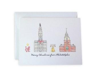 Philadelphia, Pennsylvania Holiday Notecard Set