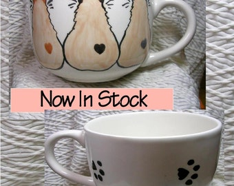 Siamese Cat Trio Jumbo Soup or Latte Mug In Stock & Ready To Ship Handmade Earthenware Ceramic by GMS