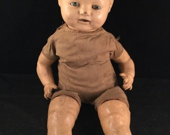 Antique/Vintage EIH Co. Inc. Composition Baby Doll with Teeth and Sleepy Eyes