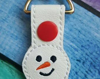 Snowman Key Fob * Key Chain * Zipper Pull * Party Favors