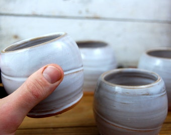 Stemless Wine Glass or Drinking Cup in Shale - Made to Order