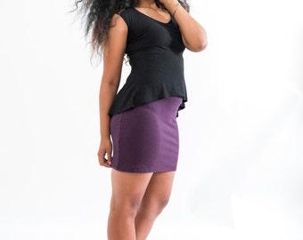 Mini Skirt // Stretchy // Organic Cotton Lycra and Hemp // Can Do Mini // Eco Fashion