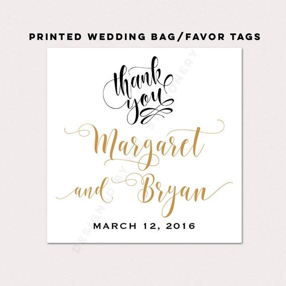 Wedding Favor Bag Tags : Bag Tag, Wedding Favor Tag, Out of Town Bag Tag, Calligraphy Favor Tag ...