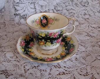 Royal Albert, Bone China, England, Garland Series, Fascination, Cup and Saucer.