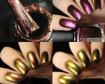 Hypnotic// Multichrome Nail Polish//Purple to Green Color Changing Lacquer// Cruelty Free