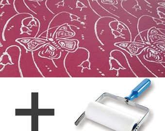 1-Colour Pattern Paint Roller STARTER PACK - Butterfly Lillies