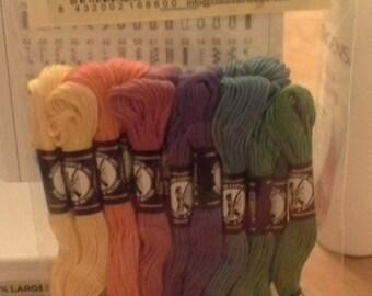 Presencia America sampler Embroidery Floss 18 pack mardi gras