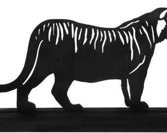 Roaming Bengal Tiger Handmade Decorative Display Silhouette - SAWA011