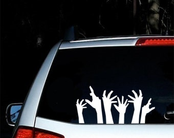 Halloween Decor Zombie Hands Decal Zombie Stickers Funny Car Window Stickers Halloween Decal Dorm Room Decor Cute Cubicle Decor Holiday
