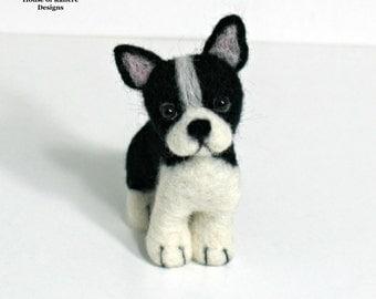 Miniature Needle Felted French Bulldog Desk Pet