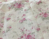 Rachel Ashwell Shabby Chic Boutique fabric - cottage pink roses linen  - Retired Home Collection linen