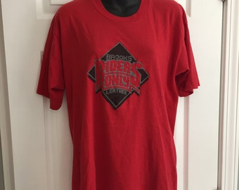 Vintage 1980s Brooks Leather Riders Only t-shirt