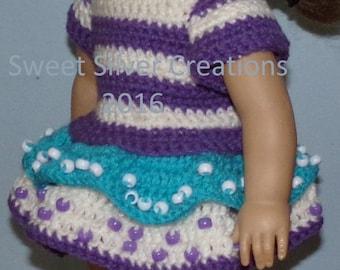 18 inch American Girl Crochet Pattern - Sweet Grapes