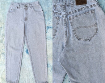 vintage 1980s Lee Riveted high waist jeans in warm gray wash