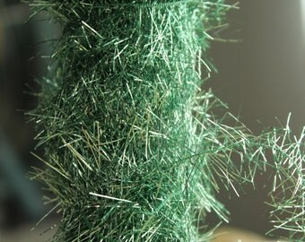 NEW Mint Green Soft Tinsel Garland 10 Foot Spool - Soft and Sweet Vintage Style Mint Green Tinsel Trim - Retro 1950s Christmas