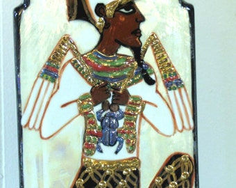 Rectangle Ceramic Planter/Vase Egyptian Scarab God Osiris two Piece Planter on Etsy