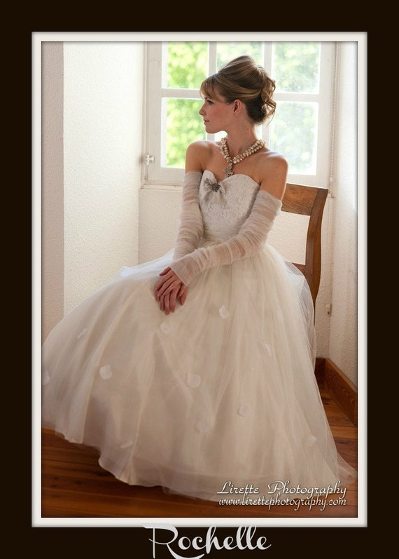 1950s Wedding Dress  'ROCHELLE'