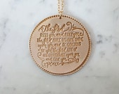 PRAYER OF BLESSING Necklace