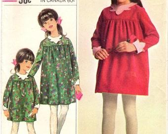 1960s Simplicity 6666 UNCUT Vintage Sewing Pattern Designer Party Dress Size 6