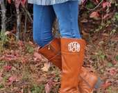 Monogrammed Riding Boots, Rusty Sienna, Monogrammed Boots, Personalized Riding Boots, Personalized Gift, Gift for Her, Christmas Gift