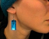 Shiny Tardis Earrings, Blue Cute Lasercut Police Box Jewelry Geekery Gift, Cosplay Doctor Who Nerd