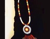 VINTAGE NATIVE AMERICAN Beadwork Necklace Set 1960s