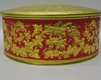 Elegant round storage tin