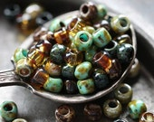 SEASIDE SEEDS .. 100 Picasso Czech Glass Seed Bead Mix Size 6/0 (4451-100)