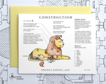 Project Zodiac - Leo - Blank Architecture Construction Cards