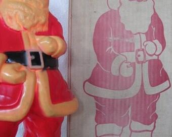 1965 Plastic Light Up Santa with Original Box