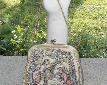 1960s Vintage J.R. Miami Tapestry Purse or Handbag