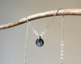 Grass Necklace/ Grass Sterling Necklace/ Grass/ Sterling Necklace/ Silver Grass Necklace/ Meadow/ Silver Meadow Necklace/ Meadow Necklace