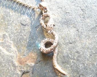 Snake Rhinestone Necklace