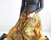 Sugar in my bowl pants..(1135) Mix silk  (M and L) /Harem pants/hippie pants/funky pants/Capri pants/boomer pants
